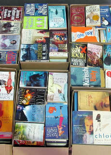 pallet of wholesale paperback fiction books